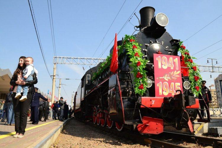 АСТРАХАНЬ: Ретро-поезд «Воинский эшелон» совершает тур Победы по Астраханской области