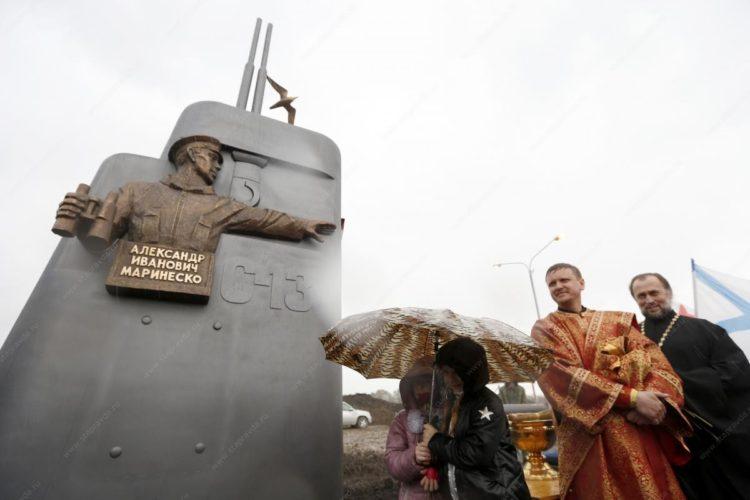 На Ставрополье установили памятник командиру А. Маринеско