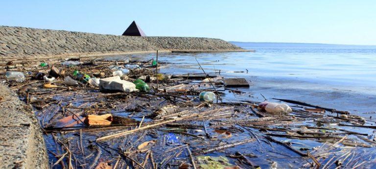 Набережная Петрозаводска засыпана мусором