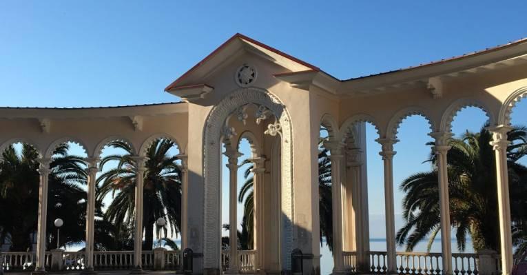 Гагрская колоннада, Абхазия